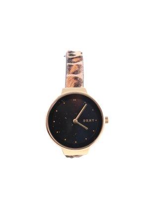 DKNY Reloj analógico estampado de leopardo look casual