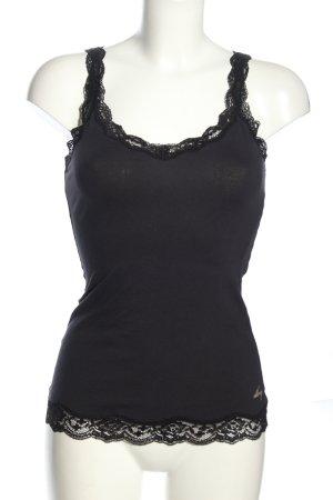 DKNY Basic topje lichtgrijs-zwart casual uitstraling