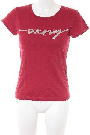 DKNY Basic Top rot sportlicher Stil