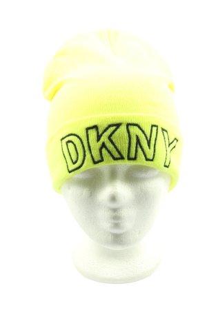 DKNY Bonnet jaune primevère lettrage brodé style décontracté