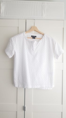 DKNY Bluse Top Embroidery weiß S M 36 38