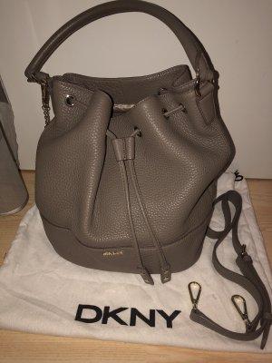 DKNY bucketbag Handtasche beige / graubraun
