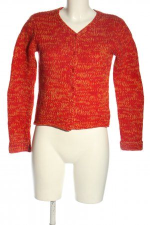 DKNY Cardigan rot-hellorange meliert Casual-Look