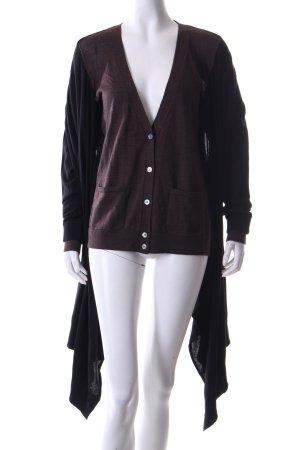 DKNY Cardigan schwarz-braun meliert Casual-Look