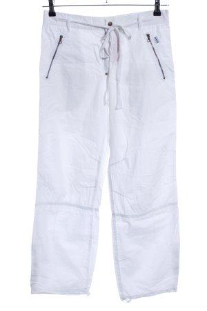 DKNY Pantalon cargo blanc style décontracté