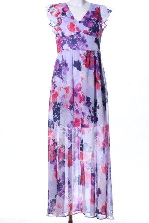 DKNY Chiffonkleid lila-pink Blumenmuster Casual-Look