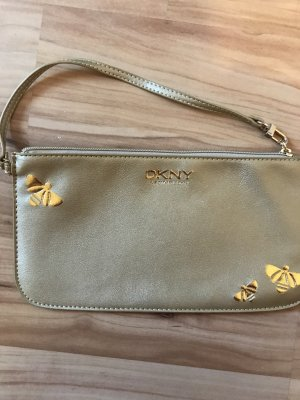 Donna Karan Clutch gold-colored-sand brown imitation leather