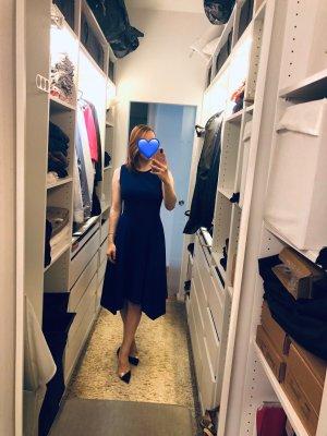 DKNY - Crew Neck Handkerchief Dress (marineblau)