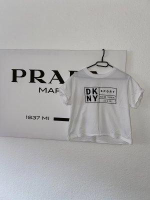 DKNY Cropped shirt wit-zwart