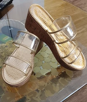 DKNY Heel Pantolettes gold-colored