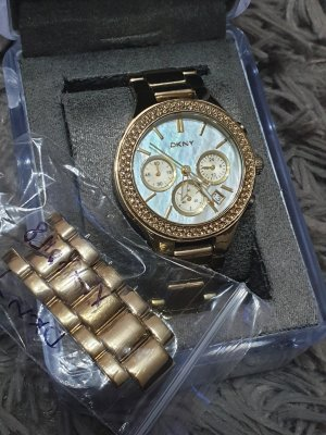 Dkny Damenuhr Chronograph Gold
