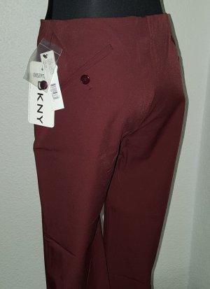 DKNY DONNA KARAN Business Stoffhose Größe 2 (D 34-36) Oxblood Bordeaux