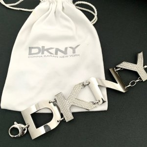 DKNY Donna Karan New York Damen Armband Edelstahl silbern