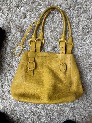 DKNY Bolso de compra marrón arena-naranja dorado