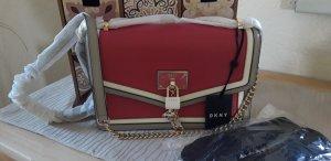 DKNY Sac bandoulière gris clair-rouge framboise