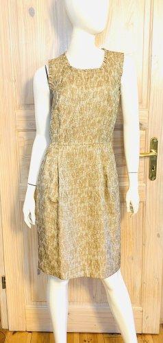 DKNY Vestido ceñido de tubo color oro