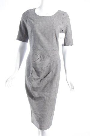 DKNY Vestido ceñido de tubo blanco-negro estampado a cuadros