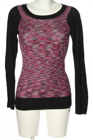 DKNY Pull en maille fine rose-noir moucheté style décontracté