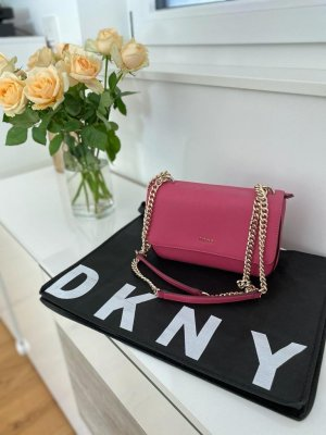 DKNY Flap Saffiano Leder Pink Crossbody / Handtasche