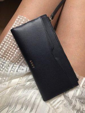 DKNY Cartera azul oscuro-gris antracita Cuero