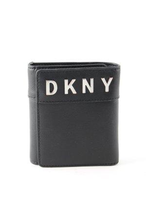 DKNY Geldbörse schwarz Schriftzug gedruckt Business-Look