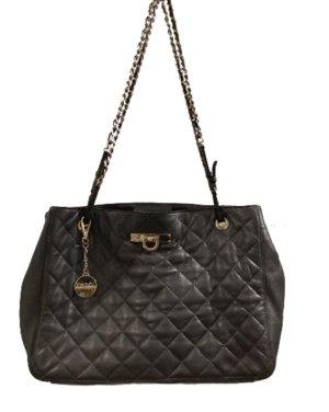 DKNY Gestepptes Leder Handtasche dunkel grau