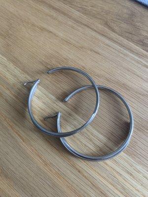 DKNY Pendientes tipo aro color plata