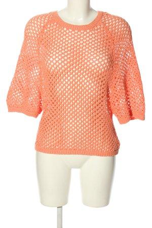 DKNY Crochet Shirt light orange elegant