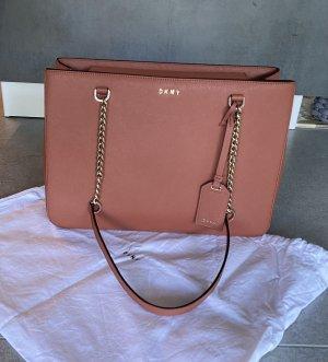 DKNY Shoulder Bag dark orange-russet leather