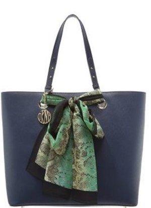 DKNY Handtasche - Saffiano Leder - dunkelblau
