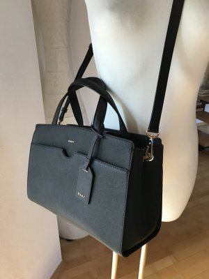 DKNY Handtasche Saffianoleder schwarz lightgold Business Tasche