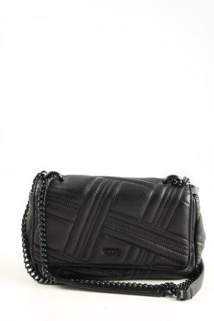 DKNY Handtasche schwarz Steppmuster Casual-Look
