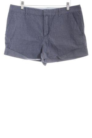 DKNY Short taille haute bleu-bleu acier gradient de couleur Application de logo