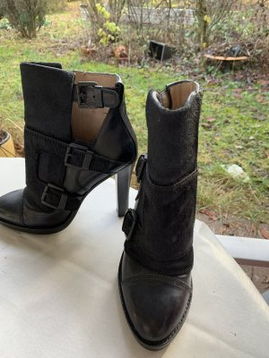 DkNY horse fur leather boots