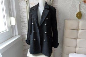 DKNY Veste en laine noir tissu mixte
