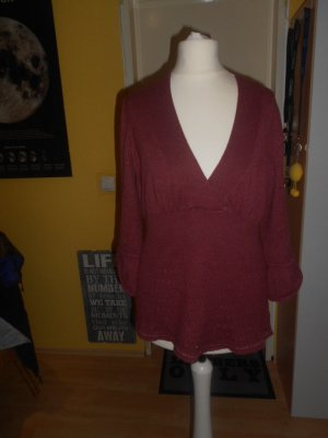 DKNY Jeans - bordeauxroter Pullover Gr. M