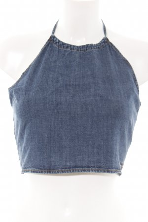 DKNY Jeans Cropped Top blau Casual-Look