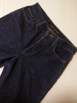 DKNY Jeans High Waist Jeans dark blue cotton