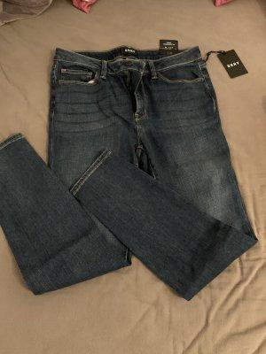 DKNY Drainpipe Trousers dark blue