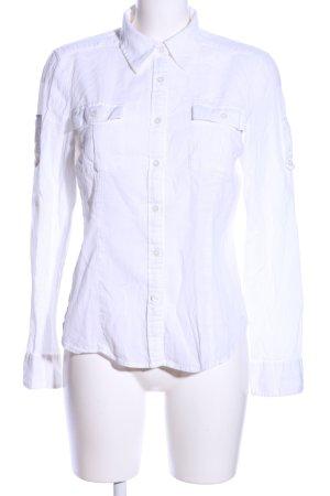 DKNY Jeans Hemd-Bluse weiß Casual-Look