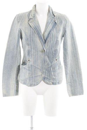DKNY Jeans Jeansblazer blassblau-creme Washed-Optik