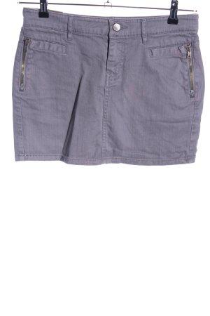 DKNY Jeans Jeansrock hellgrau-lila meliert Casual-Look