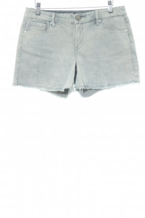 DKNY Jeans Jeansshorts graublau Logo-Applikation aus Leder