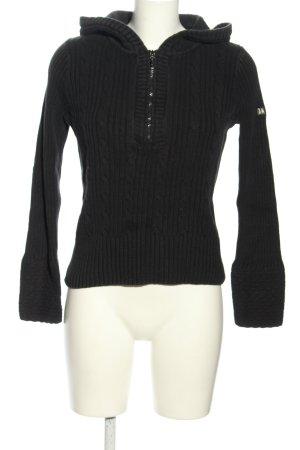 DKNY Jeans Kapuzenpullover schwarz Zopfmuster Casual-Look