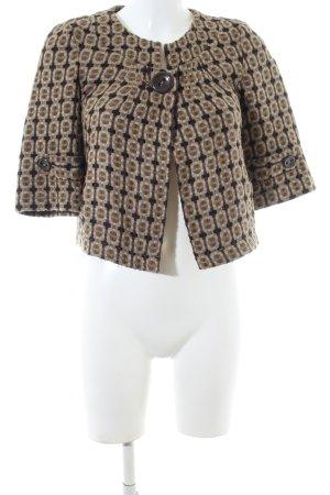 DKNY Jeans Kurzjacke braun abstraktes Muster Business-Look