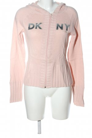 DKNY Jeans Kurzjacke pink Schriftzug gedruckt Casual-Look