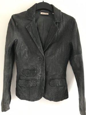 DKNY Jeans Blazer en cuir gris anthracite