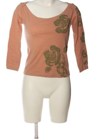 DKNY Jeans Longsleeve nude-khaki Blumenmuster Casual-Look