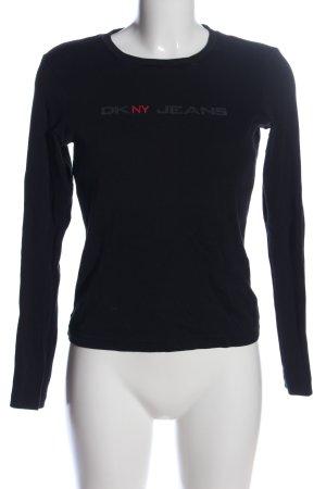 DKNY Jeans Longsleeve schwarz Schriftzug gedruckt Casual-Look