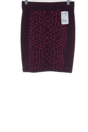 DKNY Jeans Minirock purpur-magenta Kunstmuster